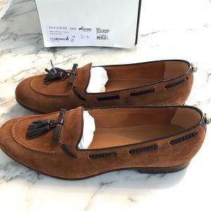 BNIB Gucci Suede & Lizard Tassel Loafer Size 8